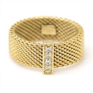 Tiffany & Co. 18K Yellow Gold Diamond Ring Size 5.5