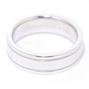 Tiffany & Co. Milgrain Wedding Band 950 Platinum Ring Size 7.5