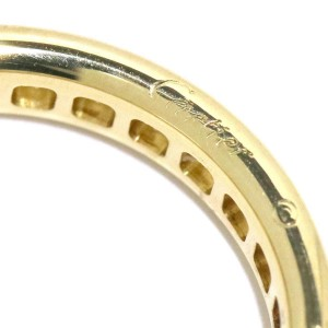 Cartier Ring 18K Yellow Gold Diamond Size 4.5
