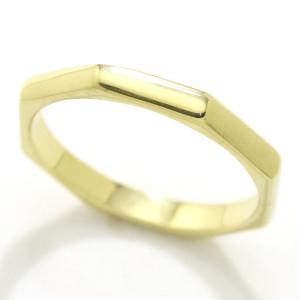 Bulgari 18K Yellow Gold Octagon Ring