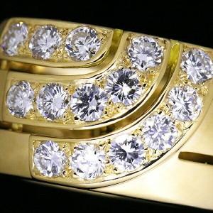 Cartier Ring 18K Yellow Gold Diamond Size 6