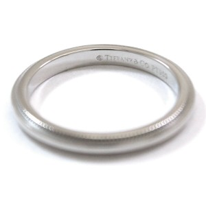 Tiffany & Co. 950 Platinum Milgrain Band Ring Size 5