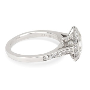 Tiffany & Co. Legacy Platinum Diamond Engagement Ring Size 4.5