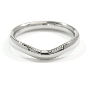 Tiffany & Co. Wide Curved Platinum Ring Size 8