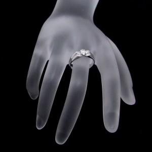 Van Cleef & Arpels 18K White Gold Diamond Ring Size 4.75