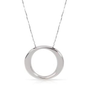 Roberto Coin 18K White Gold O Pendant Necklace