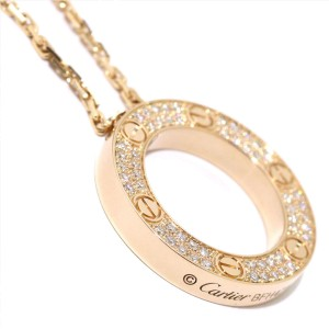 Cartier Love Necklace 18k Rose Gold Diamond