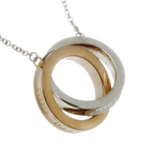 Tiffany & Co. 1837 18K Rose Gold & 925 Sterling Silver Interlocking Pendant Necklace