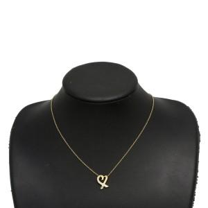 Tiffany & Co. 18K Yellow Gold Diamond Heart Pendant Necklace