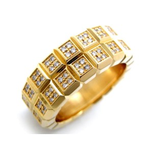 Chopard 18K Yellow Gold 1.21ctw. Diamond Ring Size 6
