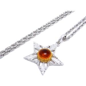 Buccellati 18K White & Yellow Gold 1.65ctw. Citrine Star Pendant Necklace