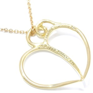 Tiffany & Co. 18K Yellow Gold Paloma Picasso Heart Pendant Necklace