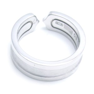 Cartier  C2 Ring 18k White Gold Size 5.25