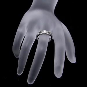 Tiffany & Co. Double Open Teardrop Diamond Platinum Ring Size 4.75