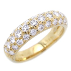 Mikimoto 18K Yellow Gold 1.03ctw. Diamond Ring Size 6.25