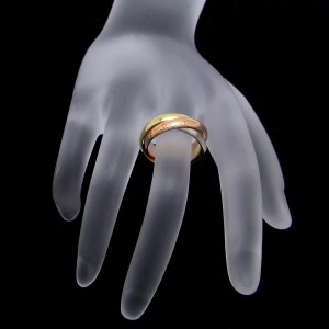 Cartier Trinity Ring 18k Tri-Color Gold Size 6