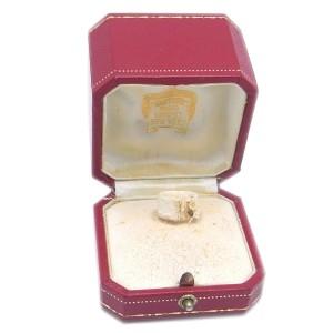 Cartier Nouvelle Vague Ring 18k White Gold Size 4.75