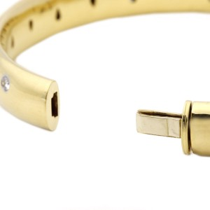 Tiffany & Co. 18k Yellow Gold and Platinum Dots Diamond Bracelet
