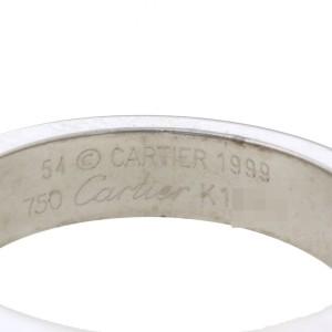 Cartier Tank Ring 18k White Gold Amethyst Size 6.75