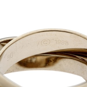 Cartier Trinity Christmas 1998 Limited Edition Ring 18k White Gold Size 5.25