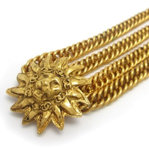 Chanel Gold Tone Lion Necklace