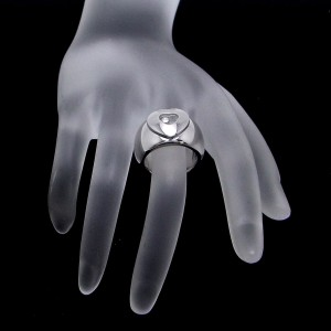 Chopard Happy 18K White Gold Diamond Ring Size 4.75