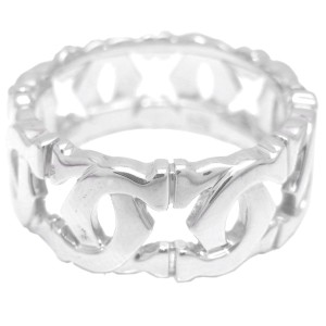 Cartier Entrelace Ring 18k White Gold Size 6