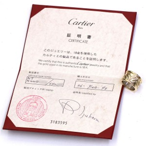 Cartier Ring 18K Yellow Gold Stainless Steel Size 6.25