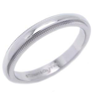 Tiffany & Co. Classic Milgrain Platinum Ring Size 7.25