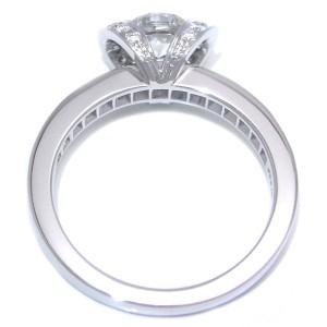 Tiffany & Co. Ribbon Diamond Platinum Ring Size 4.75