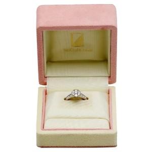Van Cleef & Arpels Fleurette 18K White Gold Diamond Ring Size 5.75