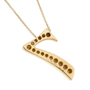 Franck Muller Talisman No. 7 18k Yellow Gold Diamond Necklace