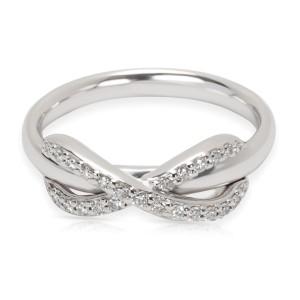Tiffany & Co. Diamond Infinity Ring in 18K White Gold, Size 4.5