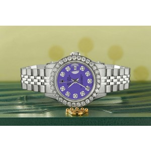 Rolex Datejust Steel 26mm Jubilee Watch Pastel Purple Diamond Dial/Bezel