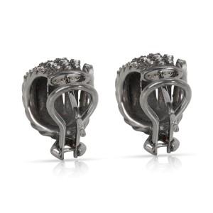 David Yurman Tempo Diamond Earrings in Darkened Sterling Silver  0.61CTW