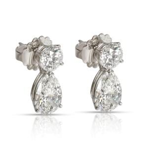 Tiffany & Co. Diamond Teardrop Earring in  Platinum GIA Certified 6.69 CTW