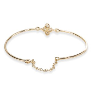 Cartier Hindu Floral Diamond Wire Bracelet in 18KT Yellow Gold 0.24 ctw