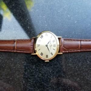 BAUME & MERCIER Ladies 18K Solid Gold Manual Hand-Wind Dress Watch c.1980s LV362