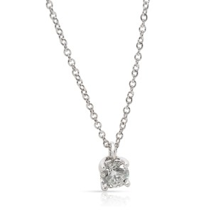 Tiffany & Co. Solitaire Diamond Necklace in  Platinum G VVS1 0.33 CTW