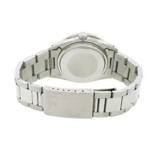 Rolex Datejust Steel 36mm Oyster Watch 2.70ct Diamond Bezel/White MOP Dial
