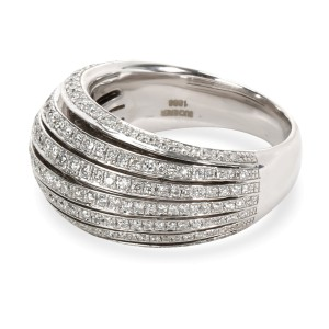 Bucherer Domed Diamond Band in 18KT White Gold 1.21 CTW