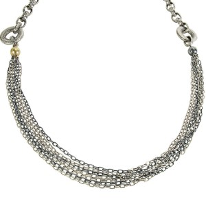 BRAND NEW Gurhan Chain Necklace in Sterling Silver MSRP 4,325