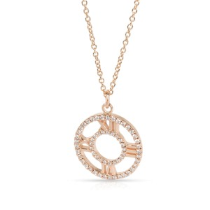Tiffany & Co. Atlas Diamond Pendant in 18K Rose Gold 0.3 CTW