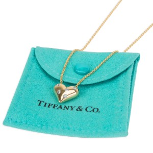 Tiffany & Co. Etiole Diamond Heart Necklace in 18K Yellow Gold 0.15 CTW