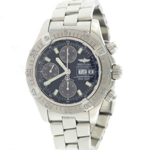 Breitling SuperOcean Chronograph Day Date 42mm Black Dial Steel Watch A13340