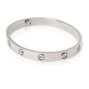Cartier Love Bangle in 18K White Gold Size 17