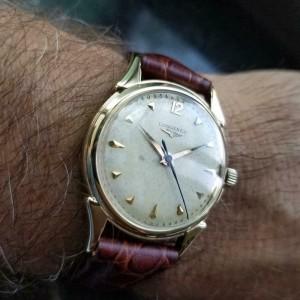 LONGINES Men's 14k Solid Gold Cal.23 Hand-Wind Dress Watch, c.1960s Swiss LV818