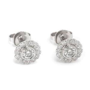 Tiffany & Co. Vintage Flower Diamond Earrings in Platinum (0.70 CTW)