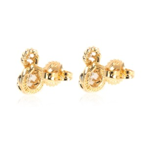 Tiffany & Co. Vintage Twisted Rope Infinity Diamond Earrings in 18K Gold 0.28ctw