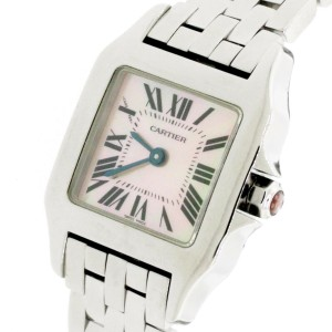 Cartier Santos Demoiselle Stainless Steel 21mm Ladies Watch W25075Z5
